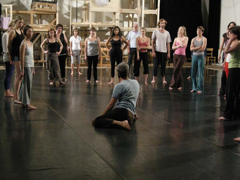 """""""Teaching at Impulstanz in Vienna (2009). Photo by Verena Holzgethan"""""""